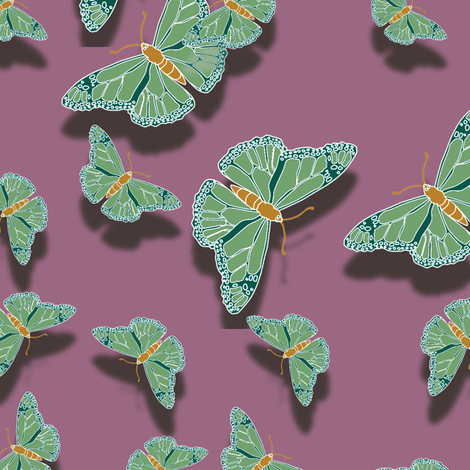 Butterfly Motif 7 fabric by animotaxis on Spoonflower - custom fabric