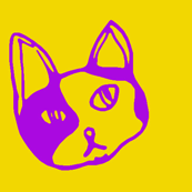 Kitty in Yellow & Pink