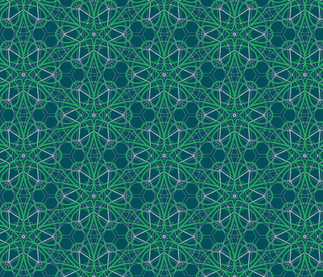 green stars fabric by heikou on Spoonflower - custom fabric