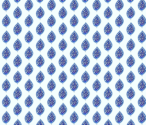 © 2011 Delft Leaf fabric by glimmericks on Spoonflower - custom fabric