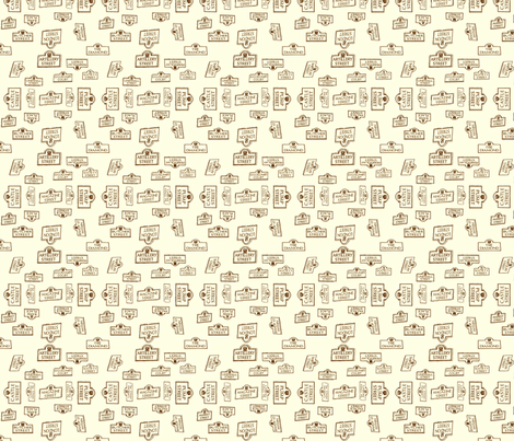 Derry City Streets_small neutral  fabric by cherryandcinnamon on Spoonflower - custom fabric