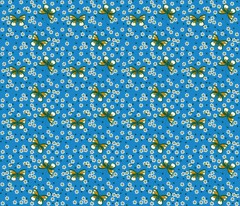 Butterfly_blue fabric by adranre on Spoonflower - custom fabric