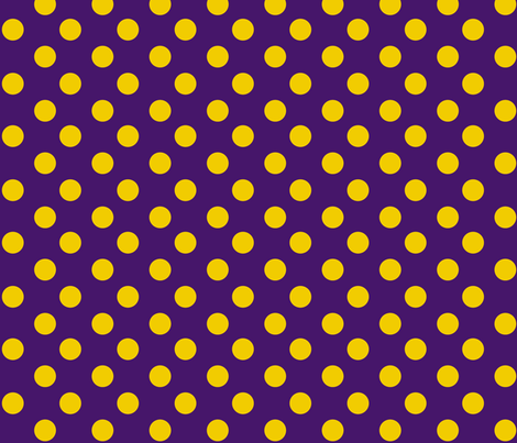 Purple-gold_polkadots fabric by writefullysew on Spoonflower - custom fabric