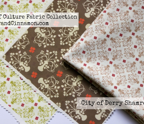 City of Derry Shamrock -vintage brown