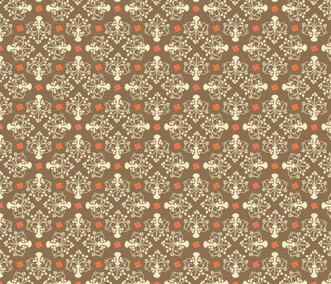 City of Derry Shamrock -vintage brown fabric by cherryandcinnamon on Spoonflower - custom fabric