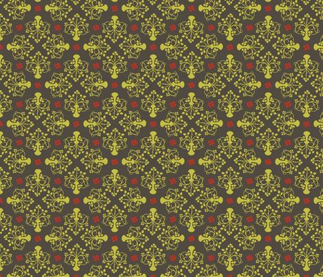 City of Derry Shamrock on grey fabric by cherryandcinnamon on Spoonflower - custom fabric