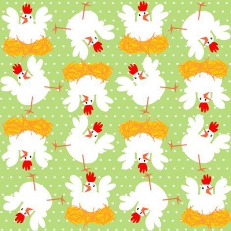 chickens fabric by valcheck on Spoonflower - custom fabric