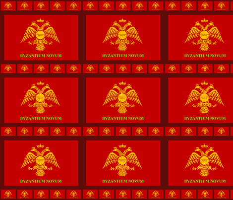 Byzantium Novum Flag fabric by rengal on Spoonflower - custom fabric