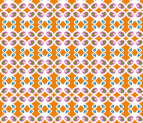 Retro Butterflies : Orange fabric by modgeek on Spoonflower - custom fabric