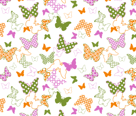 Patternflies fabric by inktreepress on Spoonflower - custom fabric