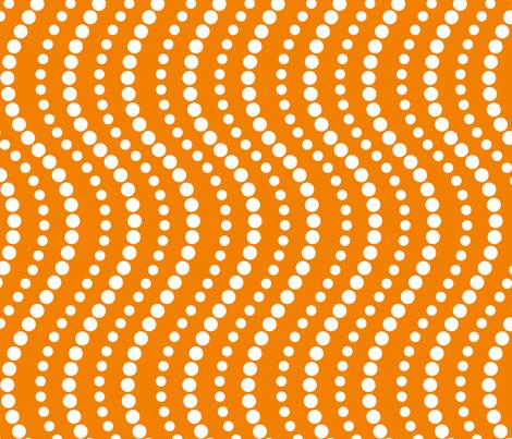 Dotterflies - orange dot coordinate fabric by sew-me-a-garden on Spoonflower - custom fabric