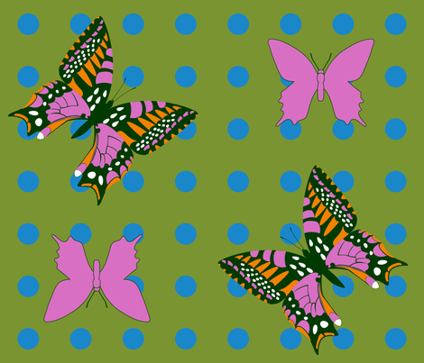 Butterflies fabric by alli's_studio on Spoonflower - custom fabric