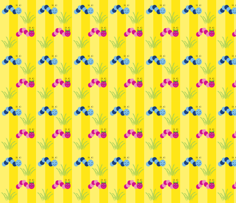Caterpillars fabric by writefullysew on Spoonflower - custom fabric