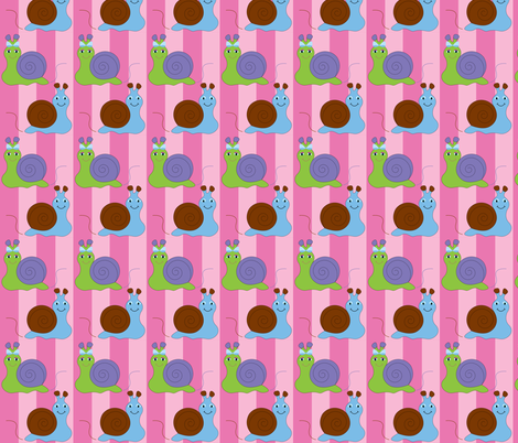 Snails fabric by writefullysew on Spoonflower - custom fabric