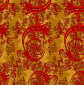 Art Noveau Cherry Swirls