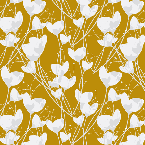 Primrose Gold Background fabric by joanmclemore on Spoonflower - custom fabric