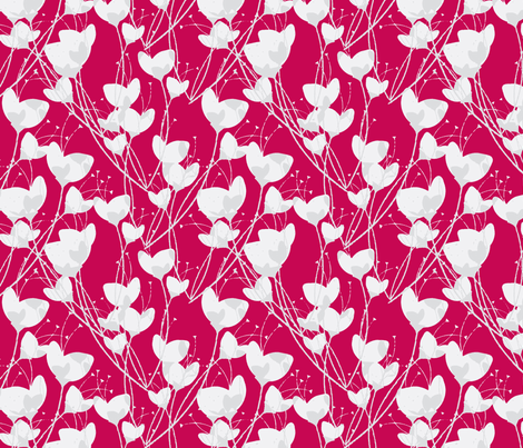 Primrose Red Background fabric by joanmclemore on Spoonflower - custom fabric