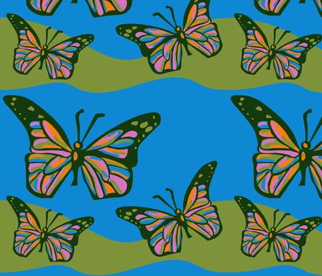 Beauty Flies fabric by lowa84 on Spoonflower - custom fabric