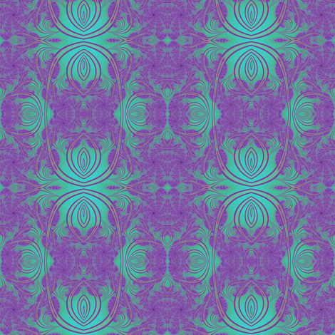 Purple Art Nouveau fabric by eclectic_house on Spoonflower - custom fabric