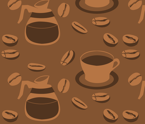 If I can't take my Coffee Break... fabric by lowa84 on Spoonflower - custom fabric