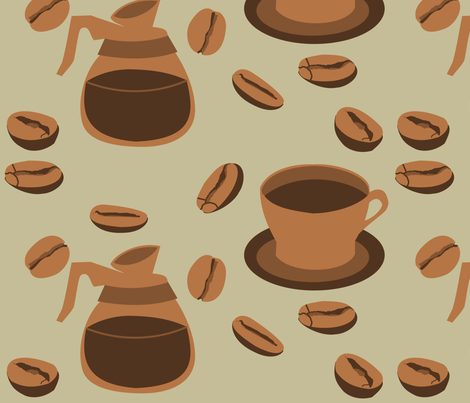Coffee Break fabric by lowa84 on Spoonflower - custom fabric