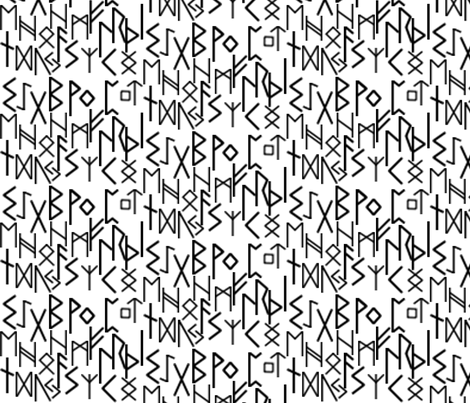 Runic Writing fabric by lowa84 on Spoonflower - custom fabric