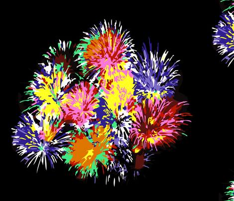 fireworks_oh my! fabric by rockpaperfabric_design on Spoonflower - custom fabric