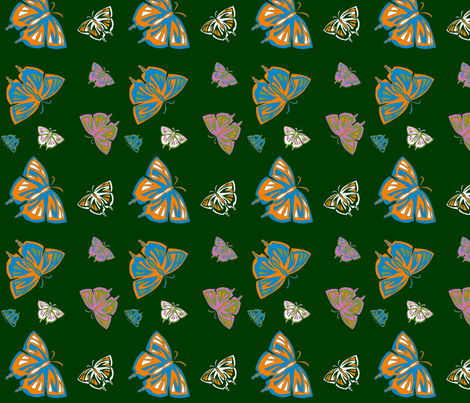 Psychedelic Butterflies fabric by kaito_kun92 on Spoonflower - custom fabric