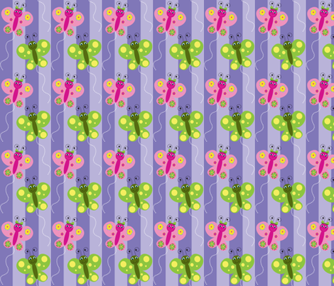 Butterflies fabric by writefullysew on Spoonflower - custom fabric