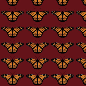 Butterflies on Red