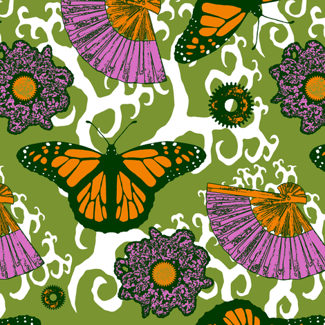Vintage Butterflies fabric by rayne on Spoonflower - custom fabric