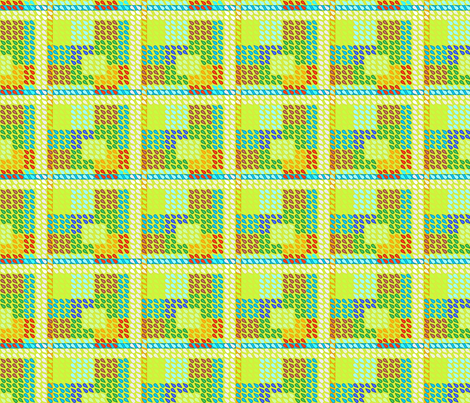 ©2011 Plaid Drops-Refresh fabric by glimmericks on Spoonflower - custom fabric