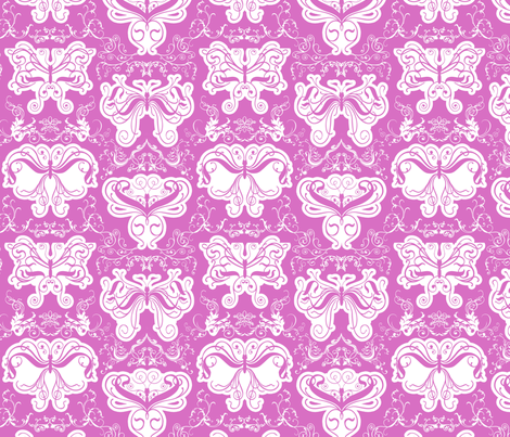 Damask_butterflies fabric by shirlene on Spoonflower - custom fabric