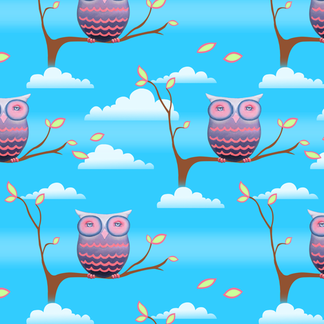 Hoot Baby fabric by artistandrea on Spoonflower - custom fabric