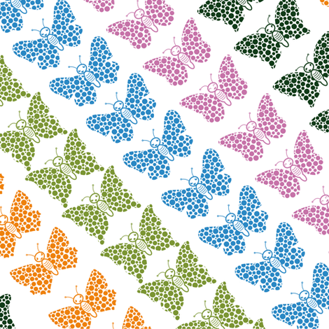 Butterflies (small) fabric by verycherry on Spoonflower - custom fabric