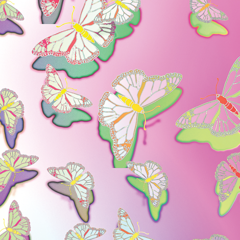 Butterfly Motif 20 fabric by animotaxis on Spoonflower - custom fabric
