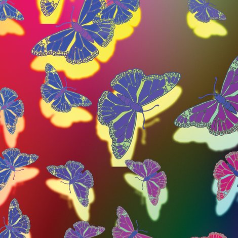 Butterfly Motif 25 fabric by animotaxis on Spoonflower - custom fabric