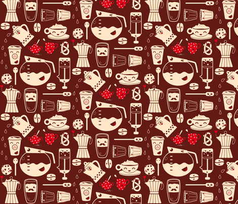 My true love, coffee! fabric by verycherry on Spoonflower - custom fabric