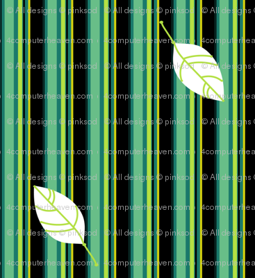 Funky Striped Leaves - Mermaids Calling - © PinkSodaPop 4ComputerHeaven.com