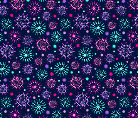 Summer Night Fireworks fabric by my_zoetrope on Spoonflower - custom fabric