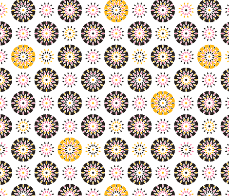 Light Up the Skies! fabric by inscribed_here on Spoonflower - custom fabric