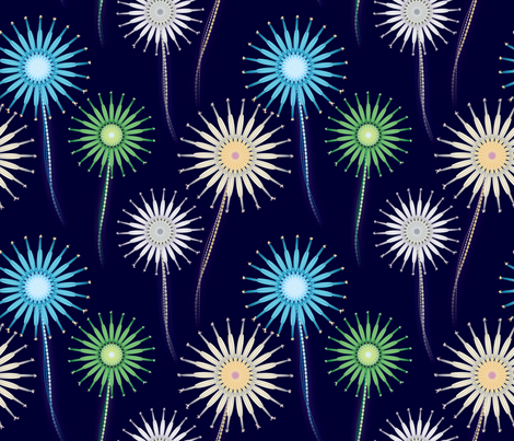 fireworks_flowers fabric by giorgiog on Spoonflower - custom fabric