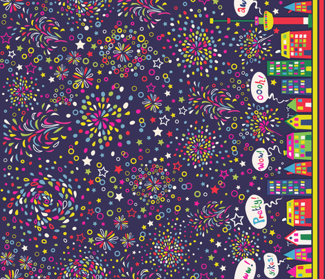 Fireworks in Rotterdam ^^ fabric by irrimiri on Spoonflower - custom fabric