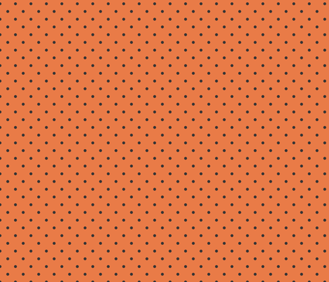 Orange Polka Dot fabric by can-do-girl-fabric on Spoonflower - custom fabric