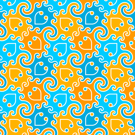 decapod 4-colour (vc) fabric by sef on Spoonflower - custom fabric