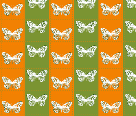 Patched Butterflies fabric by wiccked on Spoonflower - custom fabric