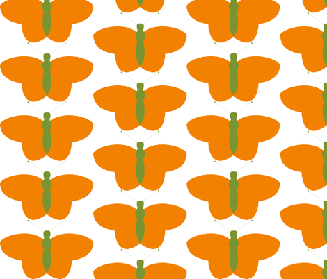 Butterfly Flutterby fabric by ourdailythread on Spoonflower - custom fabric