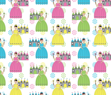 princesses fabric by writefullysew on Spoonflower - custom fabric
