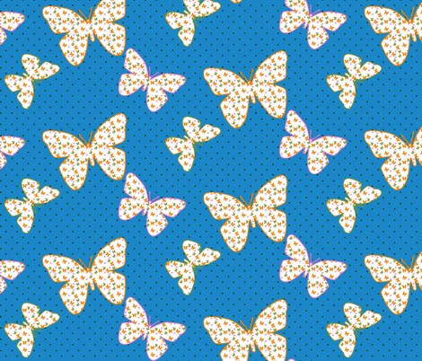 Butterflies within Butterflies fabric by sev on Spoonflower - custom fabric