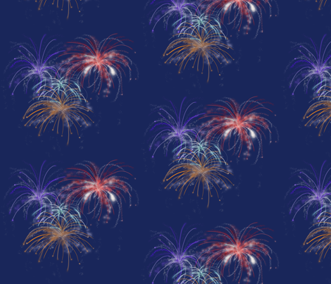 Happy4th fabric by chovy on Spoonflower - custom fabric